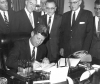 President John F. Kennedy signing the Fryingpan-Arkansas Project Act, photo courtesy of the Pueblo Chieftain